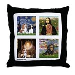 Cavalier Famous Art (clr) Throw Pillow