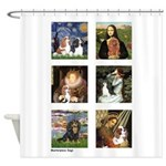 Cavalier Famous Art (clr) Shower Curtain