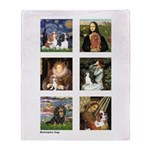 Cavalier Famous Art (clr) Throw Blanket