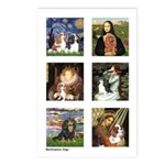Cavalier Famous Art (clr) Postcards (Package of 8)