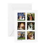 Cavalier Famous Art (clr) Greeting Card