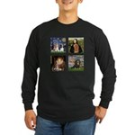 Cavalier Famous Art (clr) Long Sleeve Dark T-Shirt