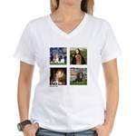 Cavalier Famous Art (clr) Women's V-Neck T-Shirt