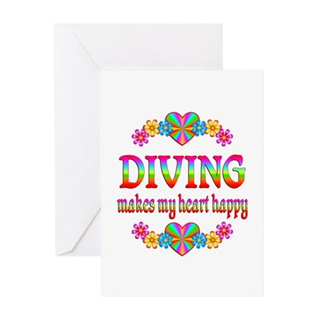 Diving Happy Greeting Card