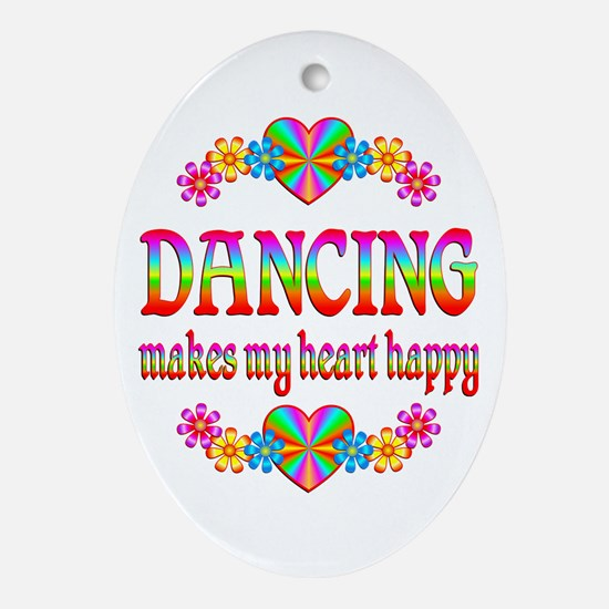 Dancing Happy Ornament (Oval)
