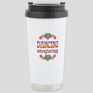 Dancing Happy Stainless Steel Travel Mug