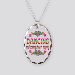 Dancing Happy Necklace Oval Charm