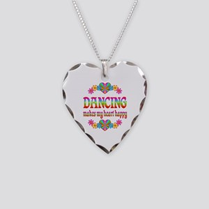 Dancing Happy Necklace Heart Charm