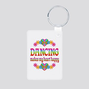 Dancing Happy Aluminum Photo Keychain