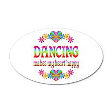Dancing Happy 22x14 Oval Wall Peel
