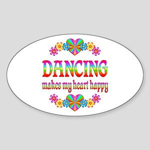 Dancing Happy Sticker (Oval)