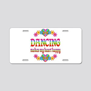 Dancing Happy Aluminum License Plate