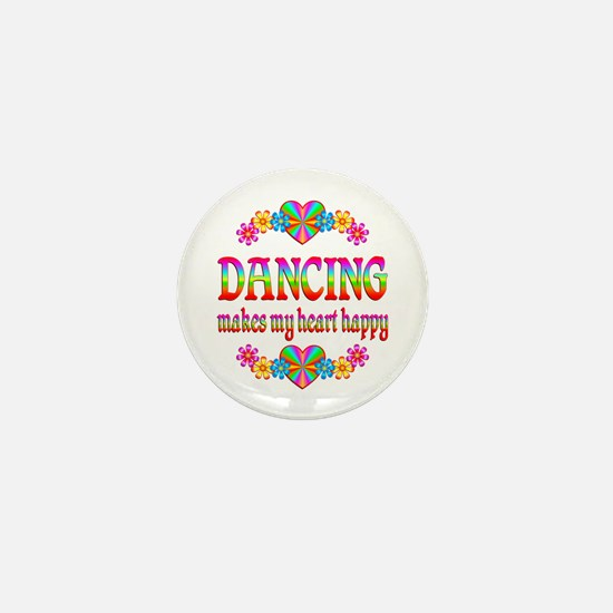 Dancing Happy Mini Button