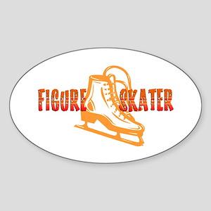 Orange Skate Sticker (Oval)