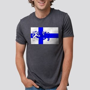 Finnish Lion Flag Mens Tri-blend T-Shirt