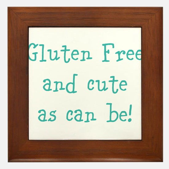Cute Celiac disease Framed Tile