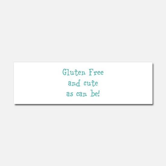 Cute Celiac disease Car Magnet 10 x 3