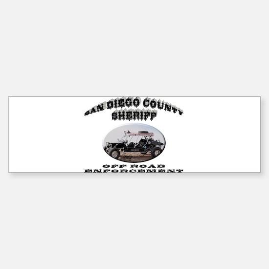San Diego Sheriff ORV Sticker (Bumper)