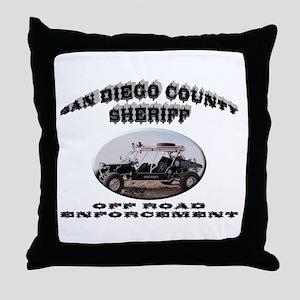 San Diego Sheriff ORV Throw Pillow