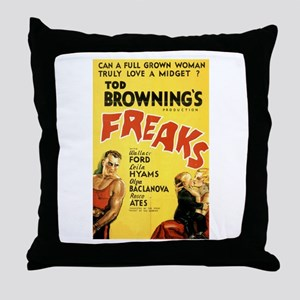Freaks Throw Pillow