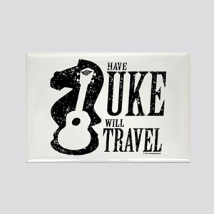 Have Uke Will Travel Rectangle Magnet