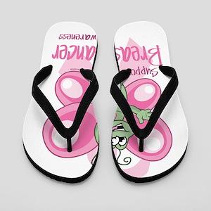 Breast Cancer Cute Butterfly Flip Flops