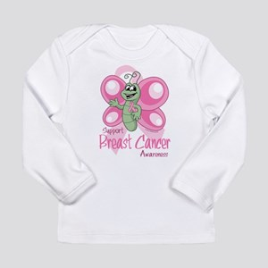 Breast Cancer Cute Butterfly Long Sleeve Infant T-