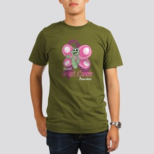 Breast Cancer Cute Butterfly Organic Men's T-Shirt