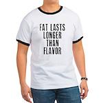 Fat last longer than taste Ringer T