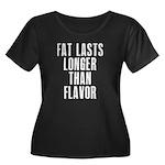 Fat last longer than taste Women's Plus Size Scoop