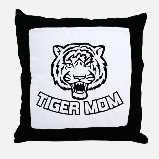 Tiger Mom Throw Pillow