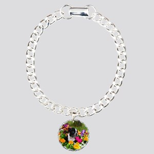 Boston Terrier Charm Bracelet, One Charm