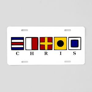 Nautical Chris Aluminum License Plate
