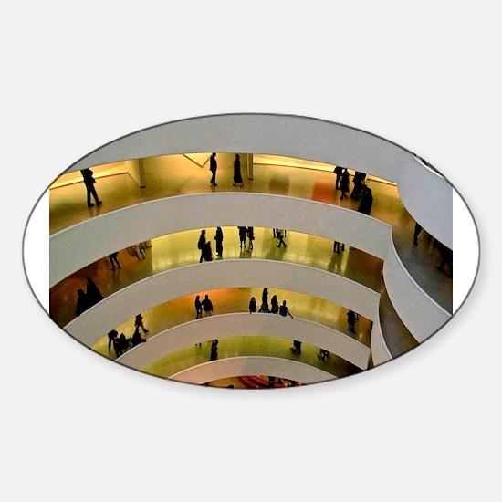 Guggenheim Museum: New York C Sticker (Oval)