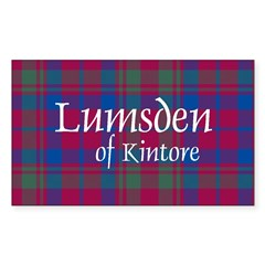 Tartan - Lumsden of Kintore Sticker (Rectangle)