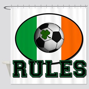 Irish Celtic Football Rules Shower Curtain