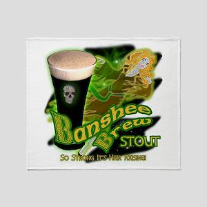 Banshee Brew Irish Stout Throw Blanket