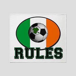 Irish Celtic Football Rules Throw Blanket