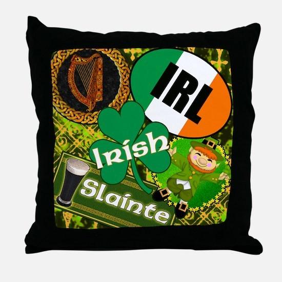 Emerald Memories Irish Throw Pillow