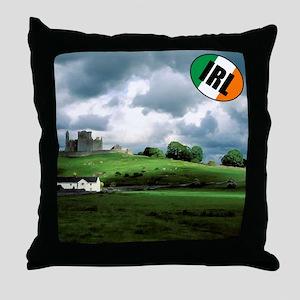 Irish Landscape/castle Throw Pillow