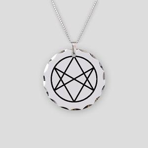 Unicursal hexagram necklaces cafepress unicursal hexagram necklace circle charm mozeypictures Images