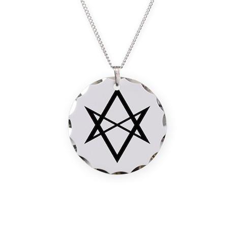 Unicursal hexagram necklace by occulteye unicursal hexagram necklace mozeypictures Images