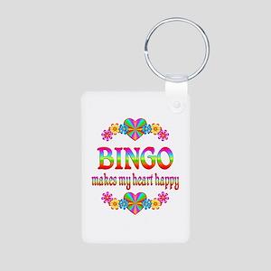 BINGO Happy Aluminum Photo Keychain