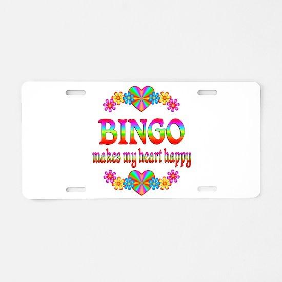 BINGO Happy Aluminum License Plate