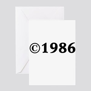 1986 Greeting Card