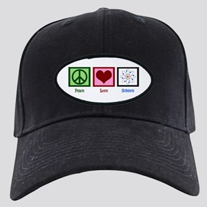 Peace Love Science Black Cap with Patch