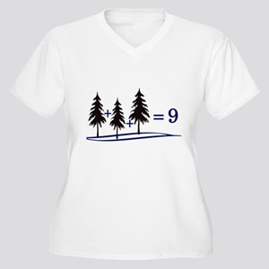 Tree Addition Women's Plus Size V-Neck T-Shirt