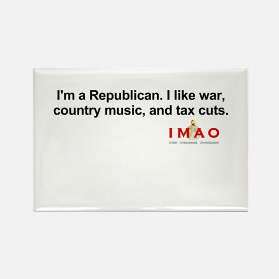 I'm a Republican Rectangle Magnet