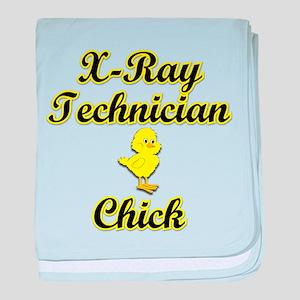 X-Ray Technician Chick baby blanket