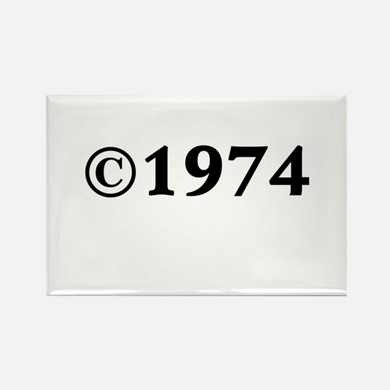 1974 Rectangle Magnet